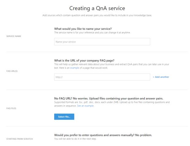 Create a QnA