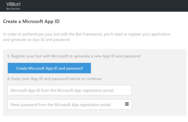 Create App ID 1