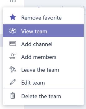 View Team